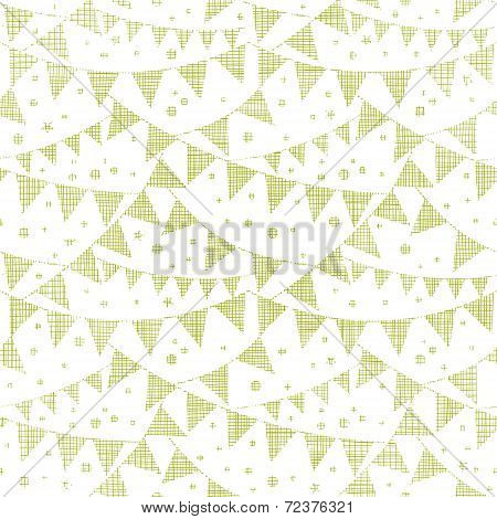 Green Textile Party Bunting Seamless Pattern Background