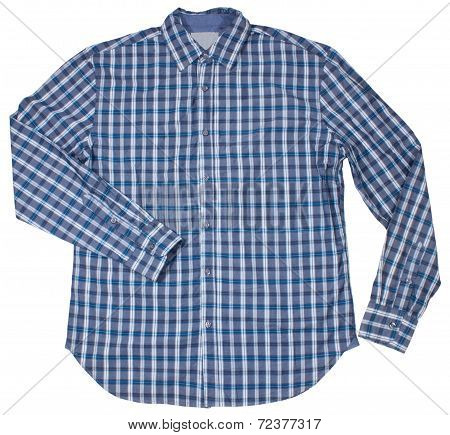 Men's blank shirt. Isolated on white