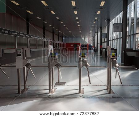 Turnstiles At Homi, Home International Show In Milan, Italy