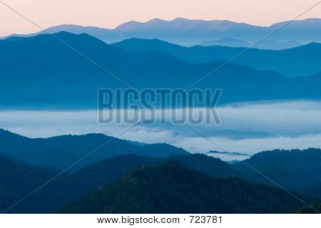 Blue Ridge Mountains In The Smoky Mountains
