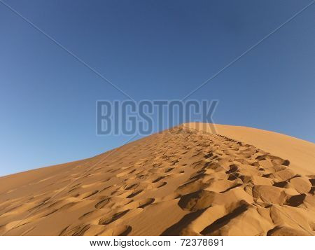Trail Through The Moroccan Sahara Desert