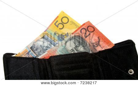 A wallet with money