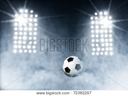 Soccer Ball With Stadium Lights