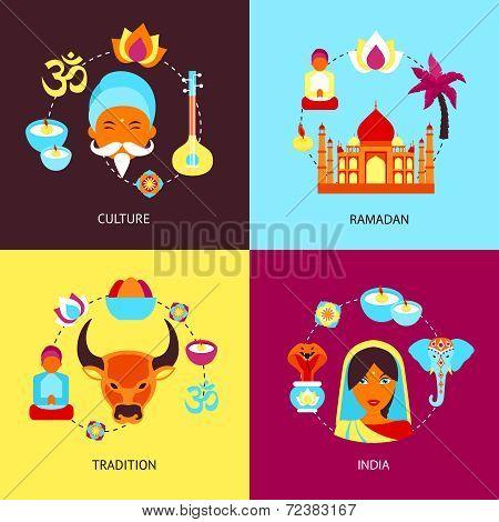 India flat set