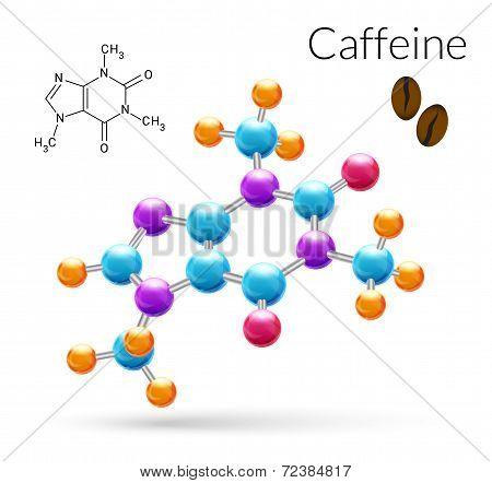 Caffeine molecule 3d
