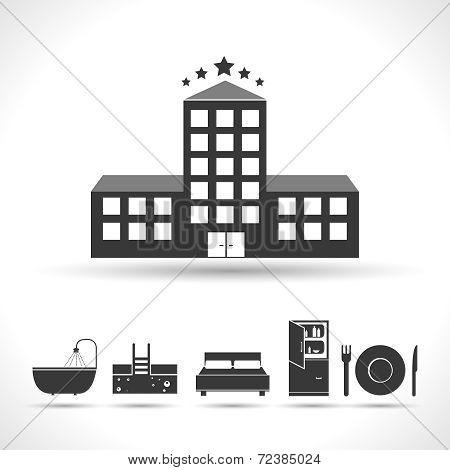Five stars hotel concept