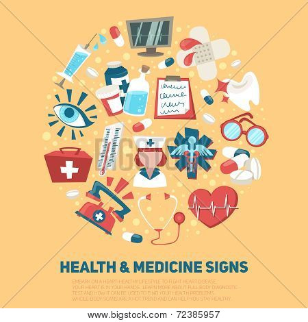 Health and medical signs concept