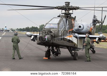 Apache AH-64D Helicopter.