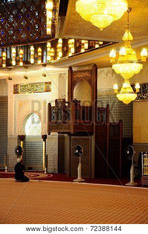 Interior of Malaysia National Mosque a.k.a. Masjid Negara