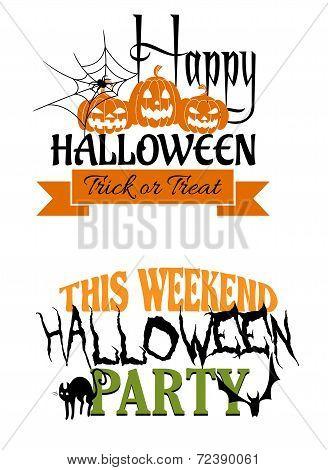 Halloween paty designs