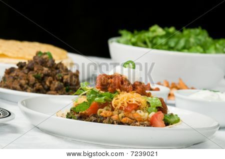 Gourmet Mexican Tostada Or Taco Dinner