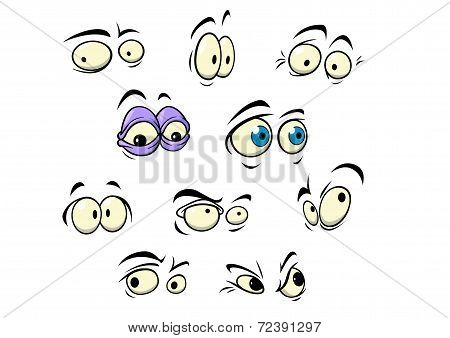Set of cartoon vector eyes