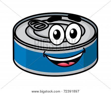 Cartoon happy tin can character
