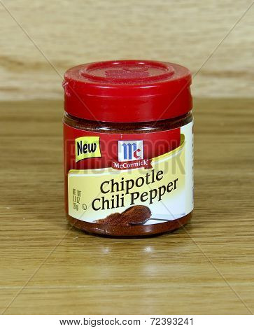 Jar Of Mccormick Chipotle Chili Pepper