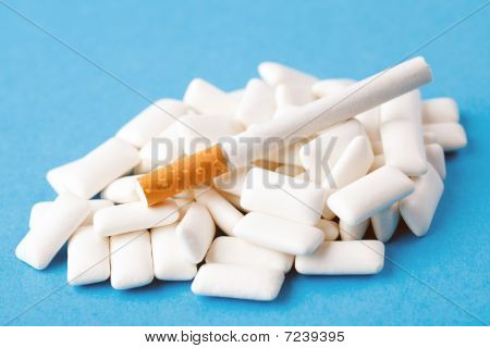 Chewing Gums And Cigarette