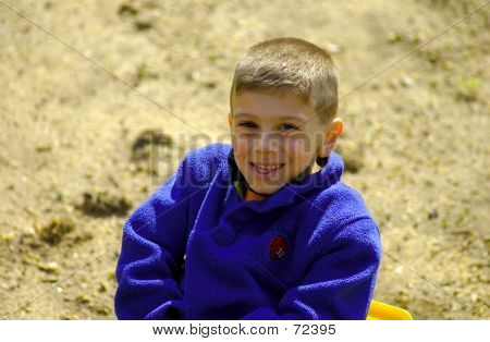 Child In Sandbox