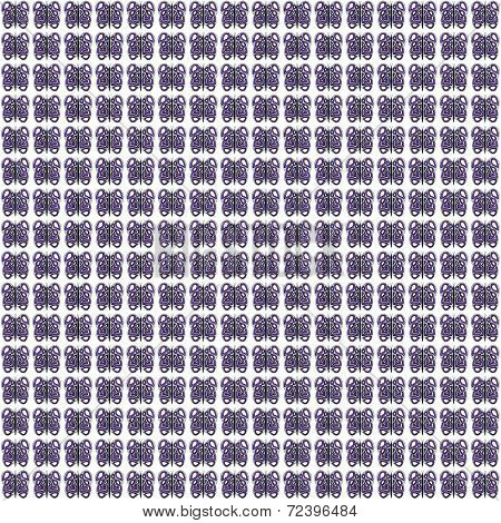 Grey-White-Purple Butterfly Pattern Extra Smal