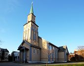 stock photo of tromso  - Church in Tromso at a day - JPG