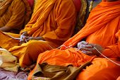 stock photo of religious  - Monks of the religious rituals Buddhist ceremony - JPG