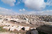 stock photo of amman  - Roman Ruins of the Citadel Amman Jordan - JPG