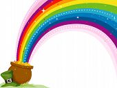 picture of end rainbow  - An Illustration of a St Patrick - JPG