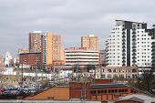 image of west midlands  - Birmingham cityscape with modern residential architecture - JPG
