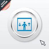 pic of elevator icon  - Elevator sign icon - JPG