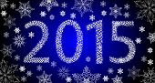 foto of happy new year 2013  - Happy New Year 2013 From Stars With White Snowflakes - JPG