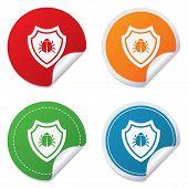 pic of shield-bug  - Shield sign icon - JPG
