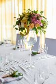 picture of dowry  - Floral arrangement for decoration wedding table for guests - JPG