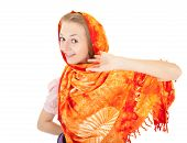 Young Girl With Orange Shawl
