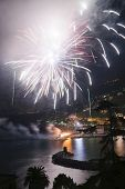 pic of genova  - Pyrotechnic event of late summer in Recco Genova Italy - JPG