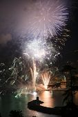 picture of genova  - Pyrotechnic event of late summer in Recco Genova Italy