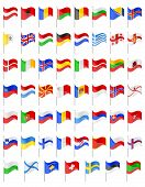 pic of longitude  - flags of European countries vector illustration isolated on white background - JPG