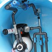 picture of plumbing  - Swimming pool water plumbing fittings and utilities - JPG