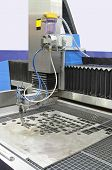 picture of water jet  - High pressure water jet CNC cutting machine in factory - JPG