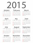 pic of february  - Simple 2015 year vector calendar on white - JPG