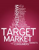picture of market segmentation  - Word Cloud with Target Market related tags - JPG