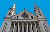 stock photo of assis  - church of healthy assis francisco seen partially it expresses - JPG