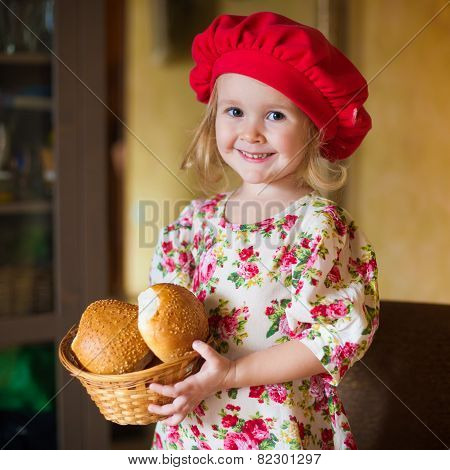 Girl With French Bread