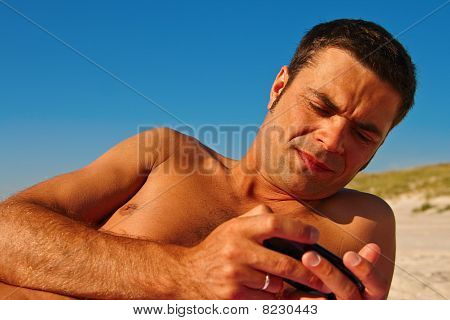 Naked Man With Phone