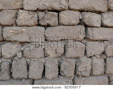 bricks of mud and straw