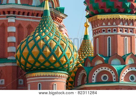 St. Basil Cathedral close-up, Red Square, Moscow