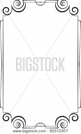 Elegant Vertical Frame On A White Background