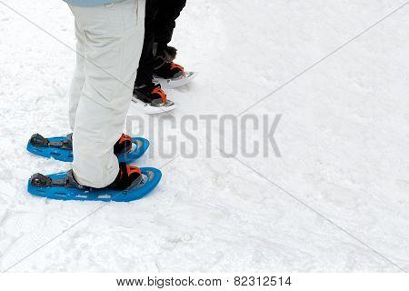 People Wearing Snow Footwear