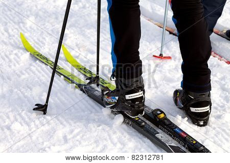 Salomon Ski Boots And Fischer Skis