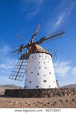 Fuerteventura, Canary Islands, Traditional Windmill