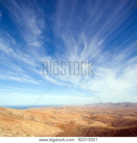 Fuerteventura, Canary Islands, View From Mirador De Guise Y Ayose