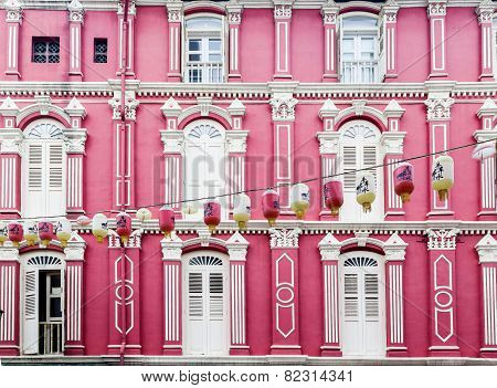 Colorful Chinatown Architecture Of Singapore