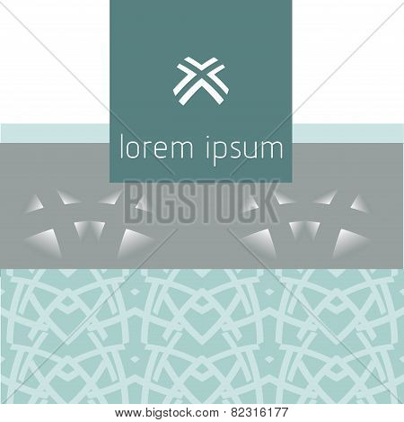 Abstract modern geometric background, logo. Four arrows. center.